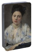 Young Women By Berthe Morisot Portable Battery Charger