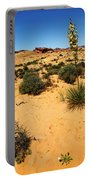 Yucca And Desert Primrose In The Valley Of Fire Portable Battery Charger