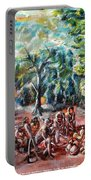 Thanks-giving In A Sacred Shrine Portable Battery Charger