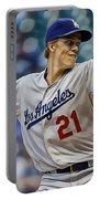 Zack Greinke Los Angeles Dodgers Portable Battery Charger