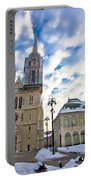 Zagreb Cathedral Winter Daytime View Portable Battery Charger