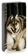 Zane Gray Wolf Portable Battery Charger