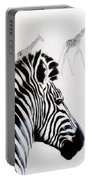 Zebra And Giraffe Portable Battery Charger