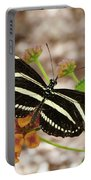 Zebra Butterfly Portable Battery Charger