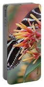 Zebra Butterfly With Blue Eyes Portable Battery Charger
