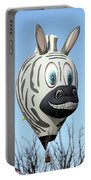 Zebra Hot Air Balloon At Balloon Fiesta Portable Battery Charger