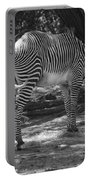 Zebra In Black And White Portable Battery Charger