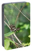 Zebra Longwing Butterfly About To Take Flight Portable Battery Charger