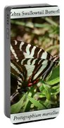 Zebra Swallowtail Butterfly Portable Battery Charger