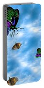 Zebras Birds And Butterflies Good Morning My Friends Portable Battery Charger