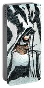 Zebras Eye - Colored Pencil Art  Portable Battery Charger