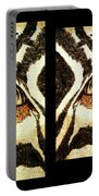 Zebras Eye - Studio Abstract Sepia Portable Battery Charger