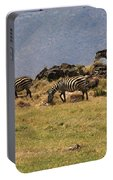Zebras In The Ngorongoro Crater, Tanzania Portable Battery Charger