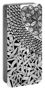 Zentangle Inspired Design Portable Battery Charger