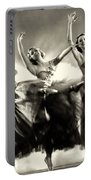 Ziegfeld Model  Dancers By Alfred Cheney Johnston Black And White Ballet Portable Battery Charger