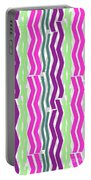 Zig Zig Stripes Portable Battery Charger
