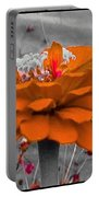 Zinna In Orange And Grey Tone Portable Battery Charger
