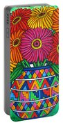 Zinnia Fiesta Portable Battery Charger