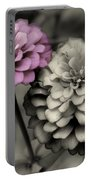 Zinnia Flower Pair Portable Battery Charger