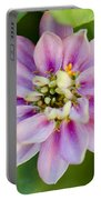 Zinnia In Pink Portable Battery Charger