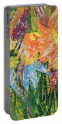 Zinnias Gone Mad Portable Battery Charger