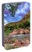 Zion At Daybreak Portable Battery Charger