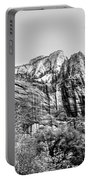 Zion National Park Utah Black White  Portable Battery Charger