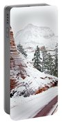 Zion Road In Winter Portable Battery Charger