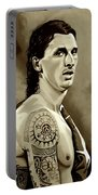 Zlatan Ibrahimovic Sepia Portable Battery Charger