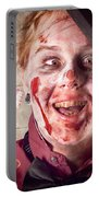 Zombie At Dentist Holding Toothbrush. Tooth Decay Portable Battery Charger