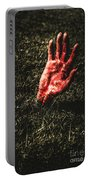 Zombie Rising From A Shallow Grave Portable Battery Charger