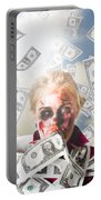 Zombie With Crazy Money. Filthy Rich Millionaire Portable Battery Charger