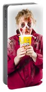 Zombie Woman With Popcorn Portable Battery Charger