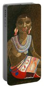 Zulu Woman With Beads Portable Battery Charger