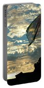 Zurich Griffin Flag At Sunset Portable Battery Charger