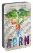 Advanced Practice Registered Nurse Gift Idea With Caduceus Illus Portable Battery Charger