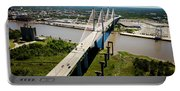 Aerial View Of Talmadge Bridge Portable Battery Charger