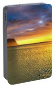 Amazing View Of Le Morne Brabant At Sunset.mauritius. Panorama Portable Battery Charger