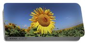 Bee On Blooming Sunflower Portable Battery Charger