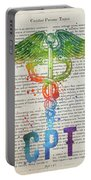 Certified Personal Trainer Gift Idea With Caduceus Illustration  Portable Battery Charger