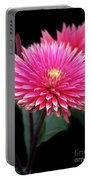 Hot Pink Dahlia  Portable Battery Charger