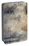 Digital Watercolor Painting Of Beautiful Dramatic Foggy Winter S Portable Battery Charger