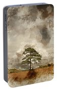 Digital Watercolor Painting Of Beautiful Vibrant Autumn Fall Tre Portable Battery Charger
