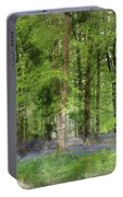 Digital Watercolor Painting Of Stunning Bluebell Forest Landscap Portable Battery Charger