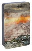 Digital Watercolor Painting Of Stunning Winter Panoramic Landsca Portable Battery Charger