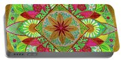 Flower Garden Mandala Portable Battery Charger
