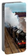 Flying Scotsman On An Evening Run Portable Battery Charger