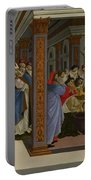 Four Scenes From The Early Life Of Saint Zenobius  Portable Battery Charger