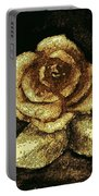Antique Gold Rose Portable Battery Charger