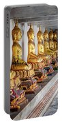 Golden Buddhas Portable Battery Charger by Adrian Evans